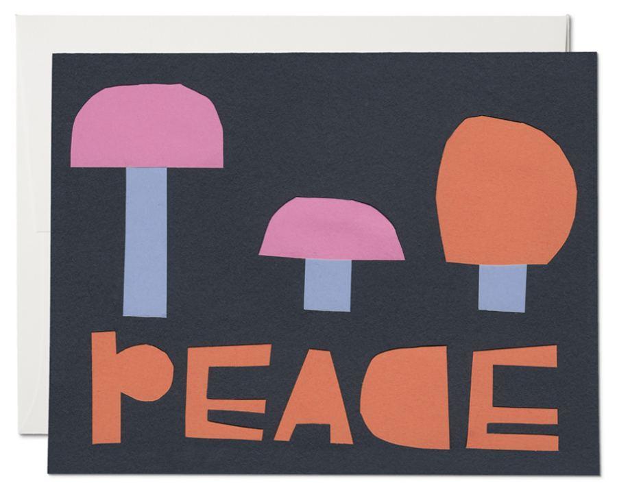 Peace Mushroom Klappkarte