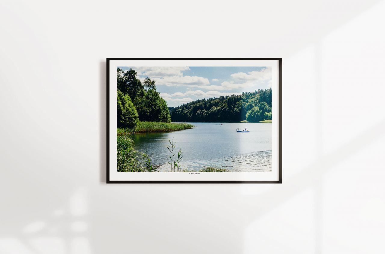 Poster Gamensee Schwimminsel (49x69cm)