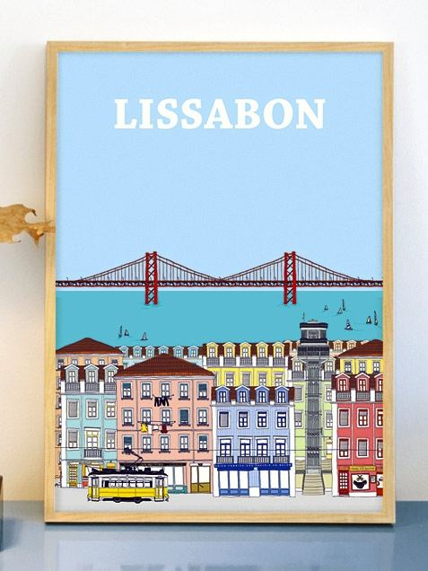 Lissabon Poster