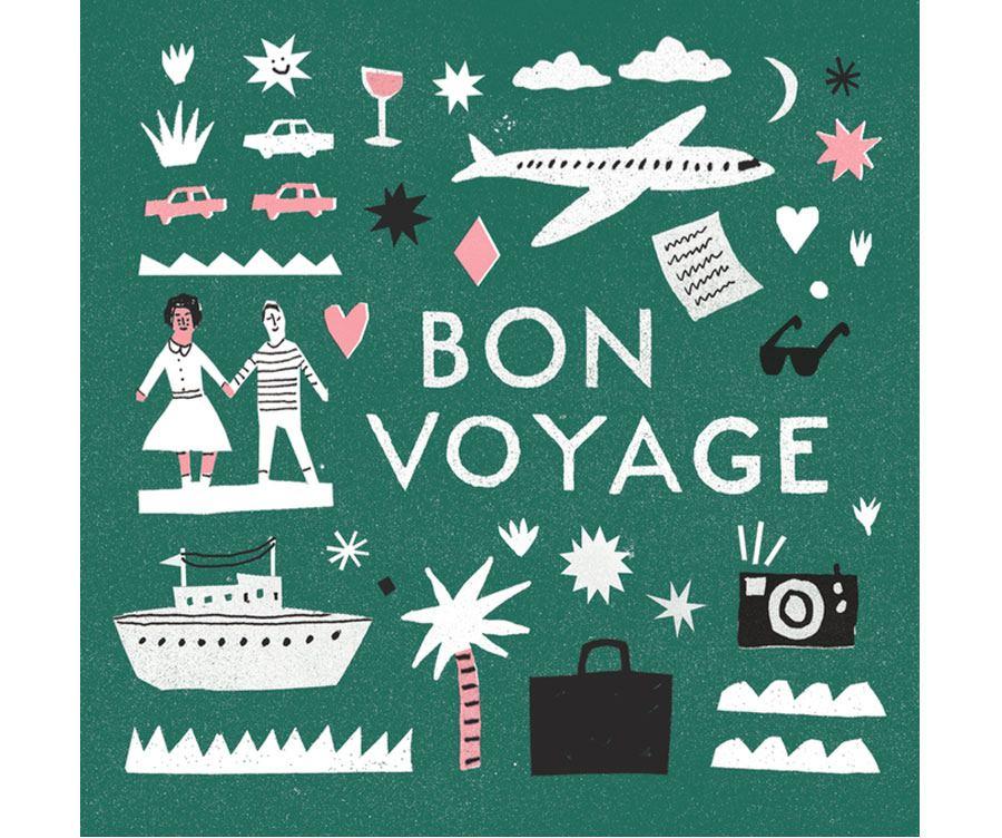 Bon Voyage Klappkarte