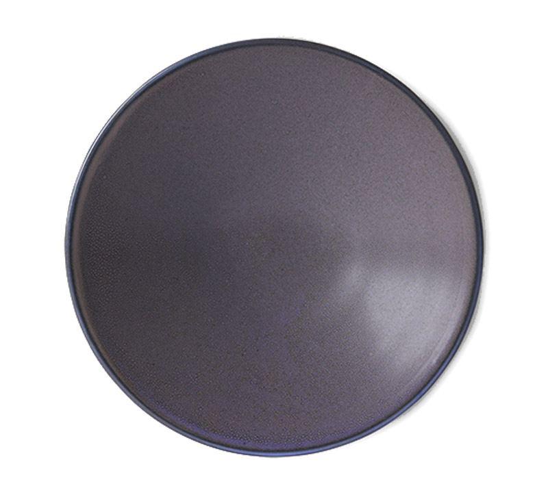 Home Chefs Ceramics: Flat Bowl Purple