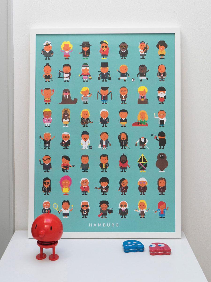 Hamburger Leude Poster