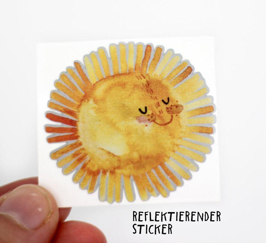 Sticker Sonne, reflektierend - 3er Set