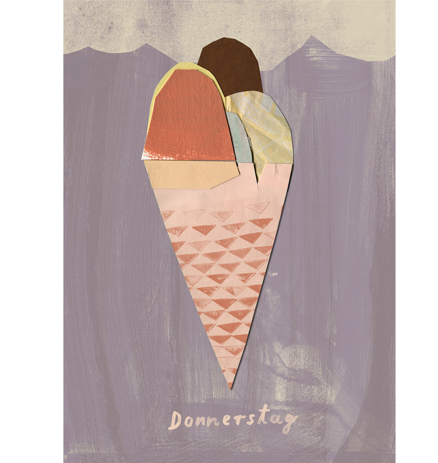 Donnerstag Eis Postkarte
