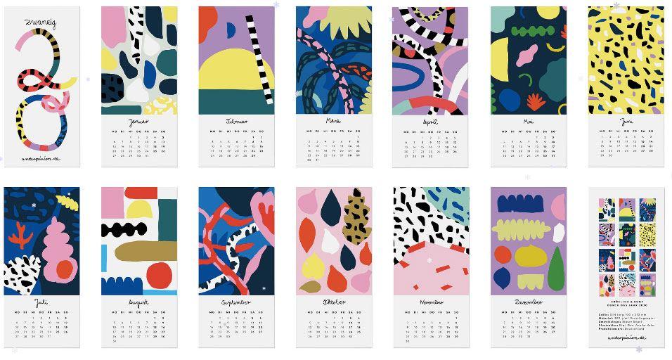 Unter Pinien Jahreskalender 2020