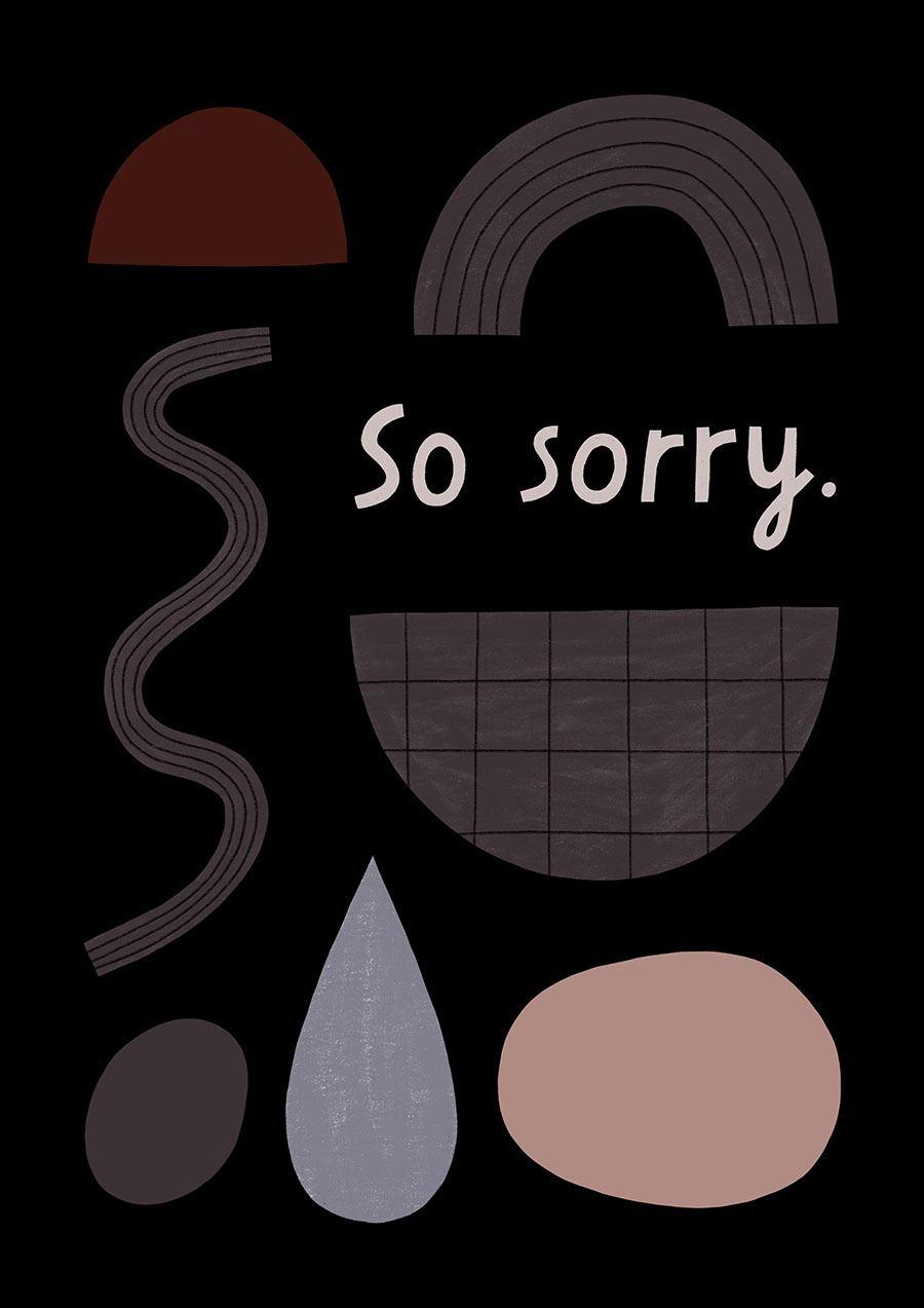Sorry Klappkarte