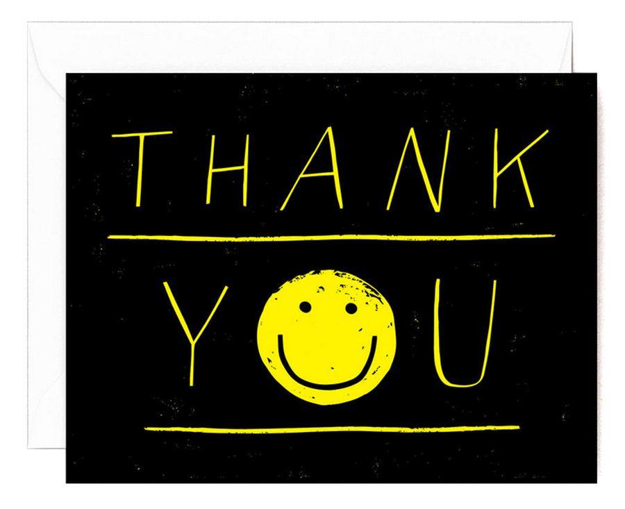 Thank You Smiley Klappkarte