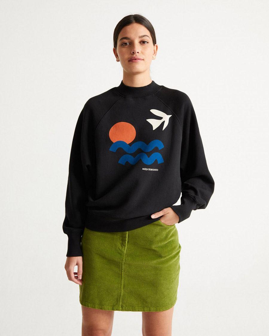 Med Sweatshirt Black