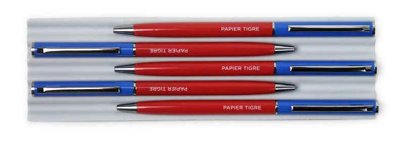 Papier Tigre Kugelschreiber Blau Rot