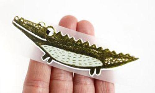 Bügelbild Krokodil