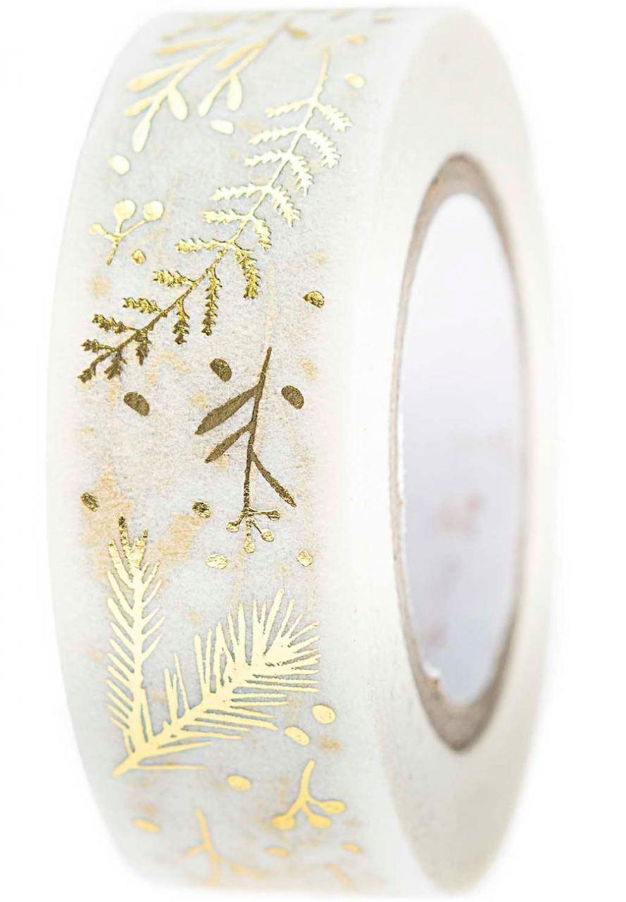 Tape Zweige Weiß Gold