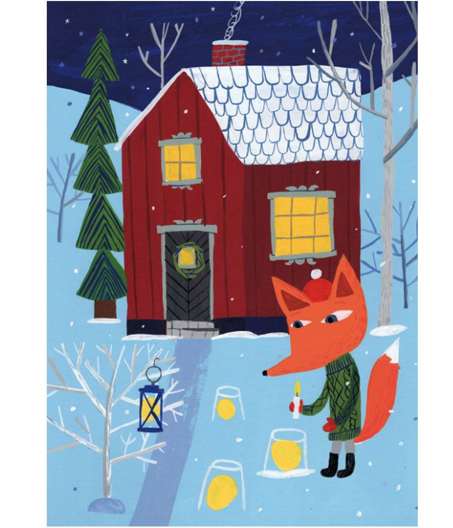 Joulun valot Postkarte