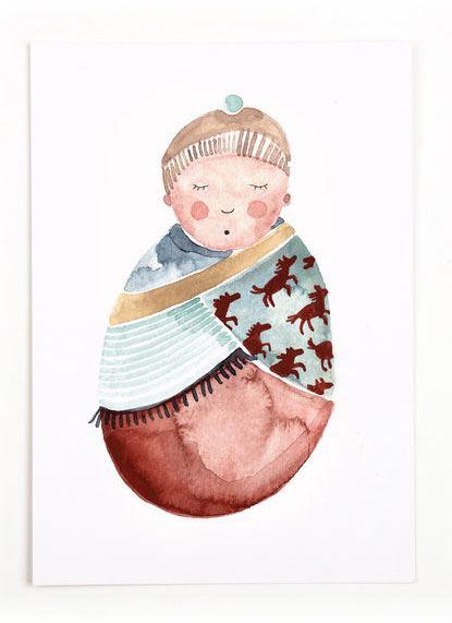 Gretas Schwester Baby Postkarte