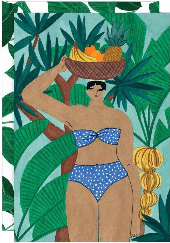 Fruit Basket Lady Karte