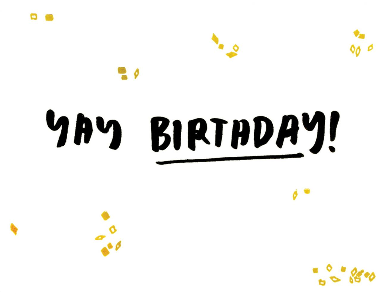 Yay Birthday Klappkarte