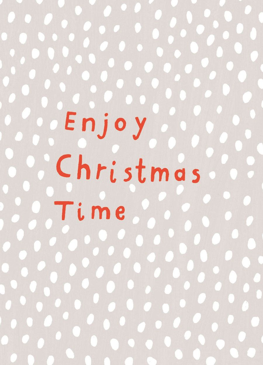 Enjoy Christmas Time Postkarte