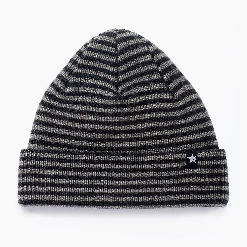 Ronin Stripes Mütze Grey Black