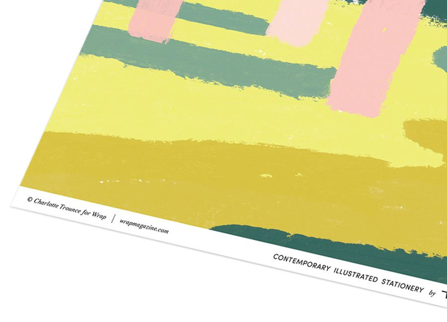 Pink Forest Geschenkpapier
