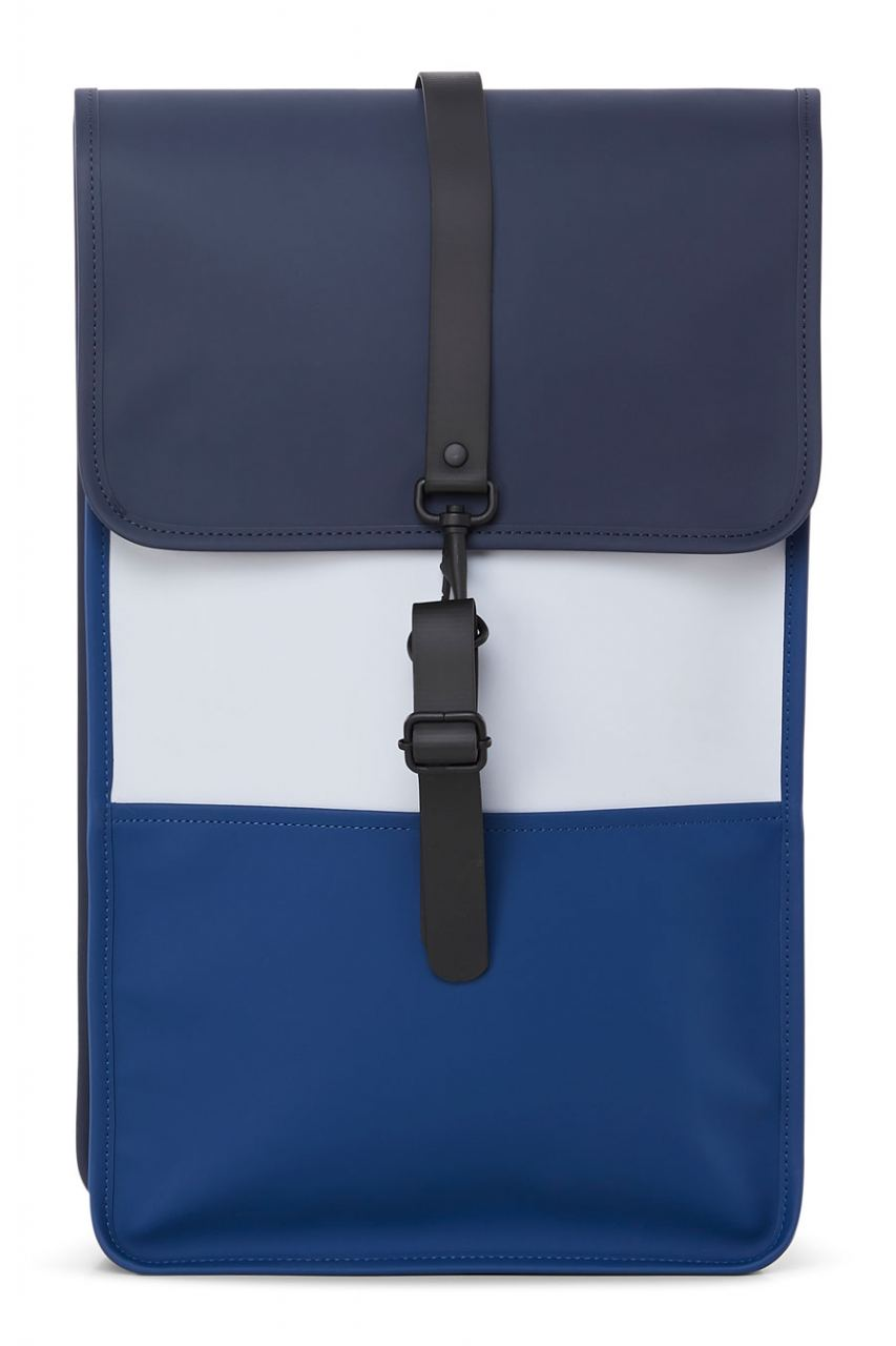 Color Block Rucksack Blue Ice Grey