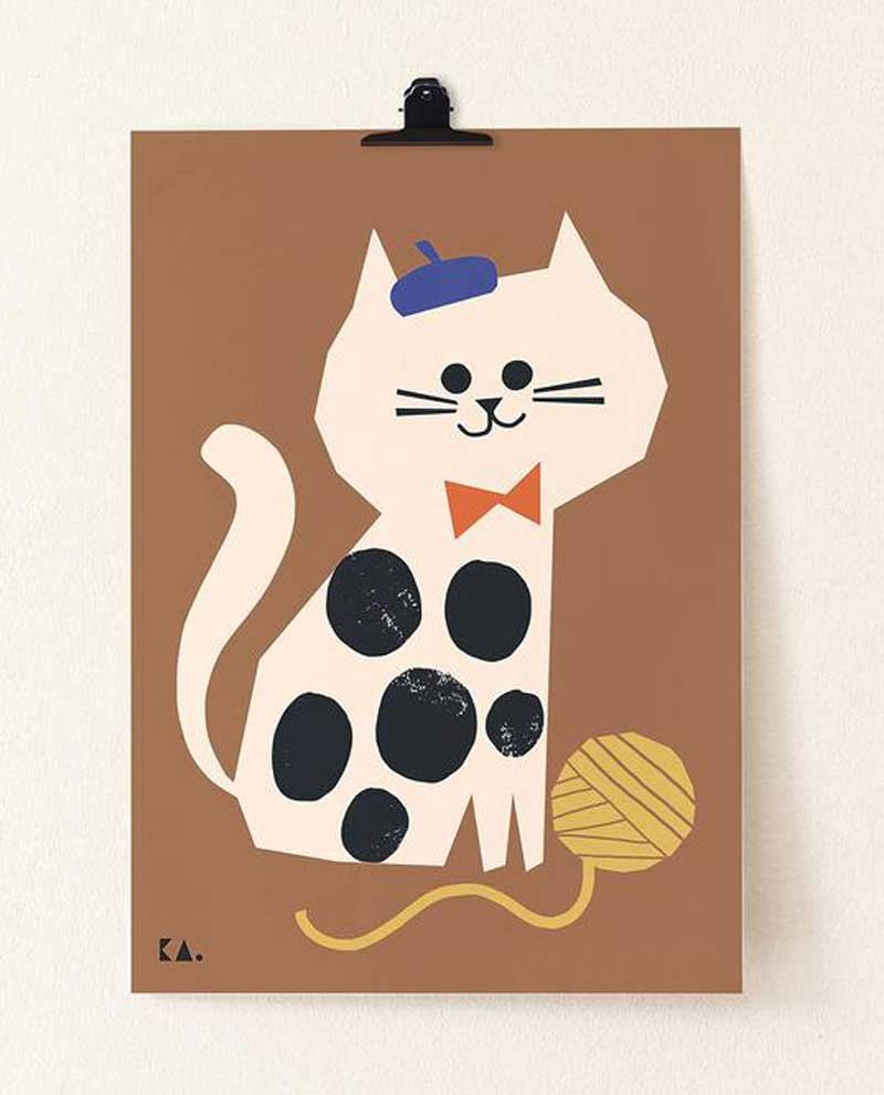 Cat Caramel Poster (50 x 70cm)