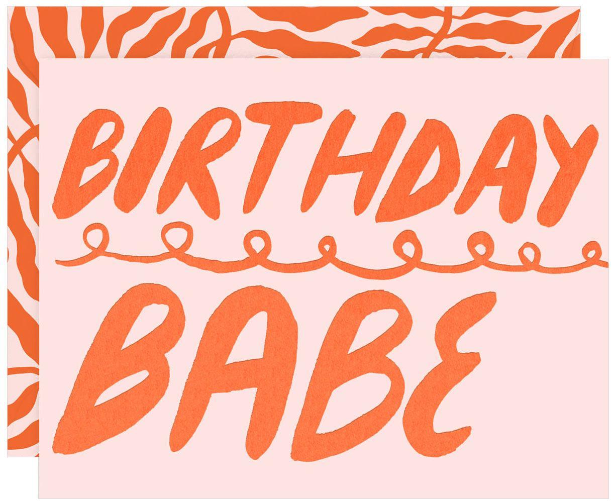 Birthday Babe Karte