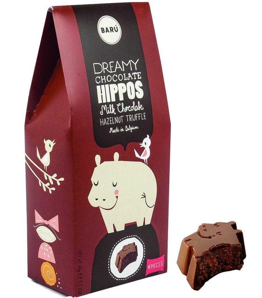 Dreamy Chocolate Hippos Hazelnut (4St.)