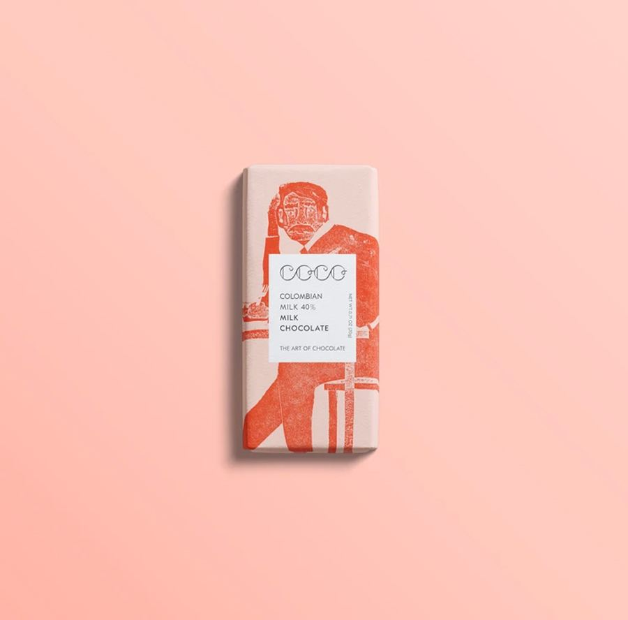 Mini Kolumbien - Vollmilch Schokolade