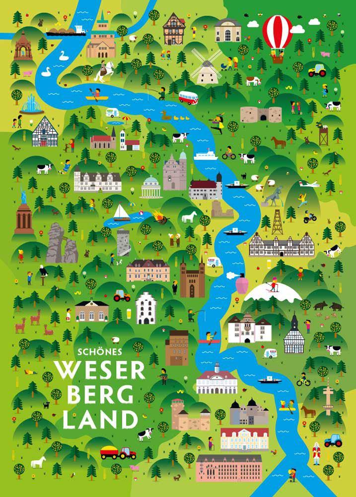 Schönes Weserbergland Postkarte