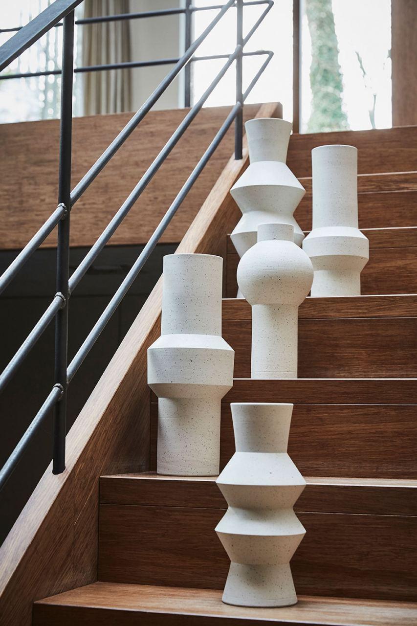 Speckled Clay Vase Round