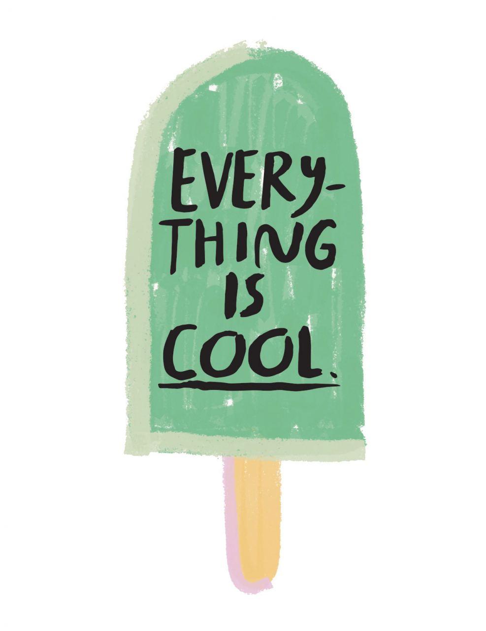 Everything is cool Klappkarte