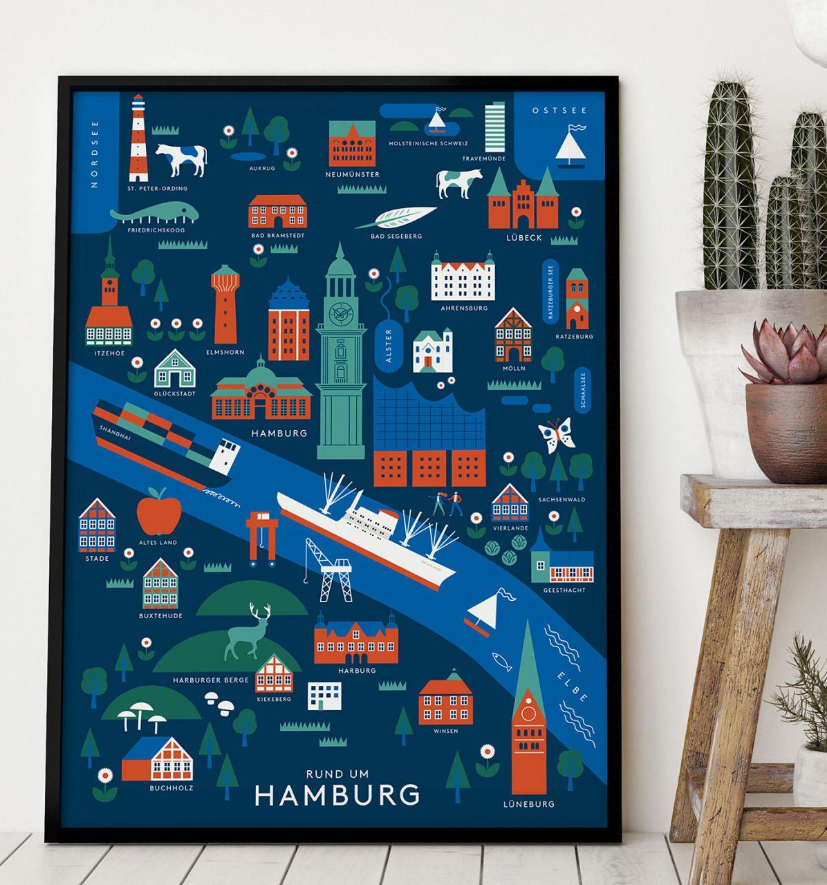 Rund um Hamburg Poster