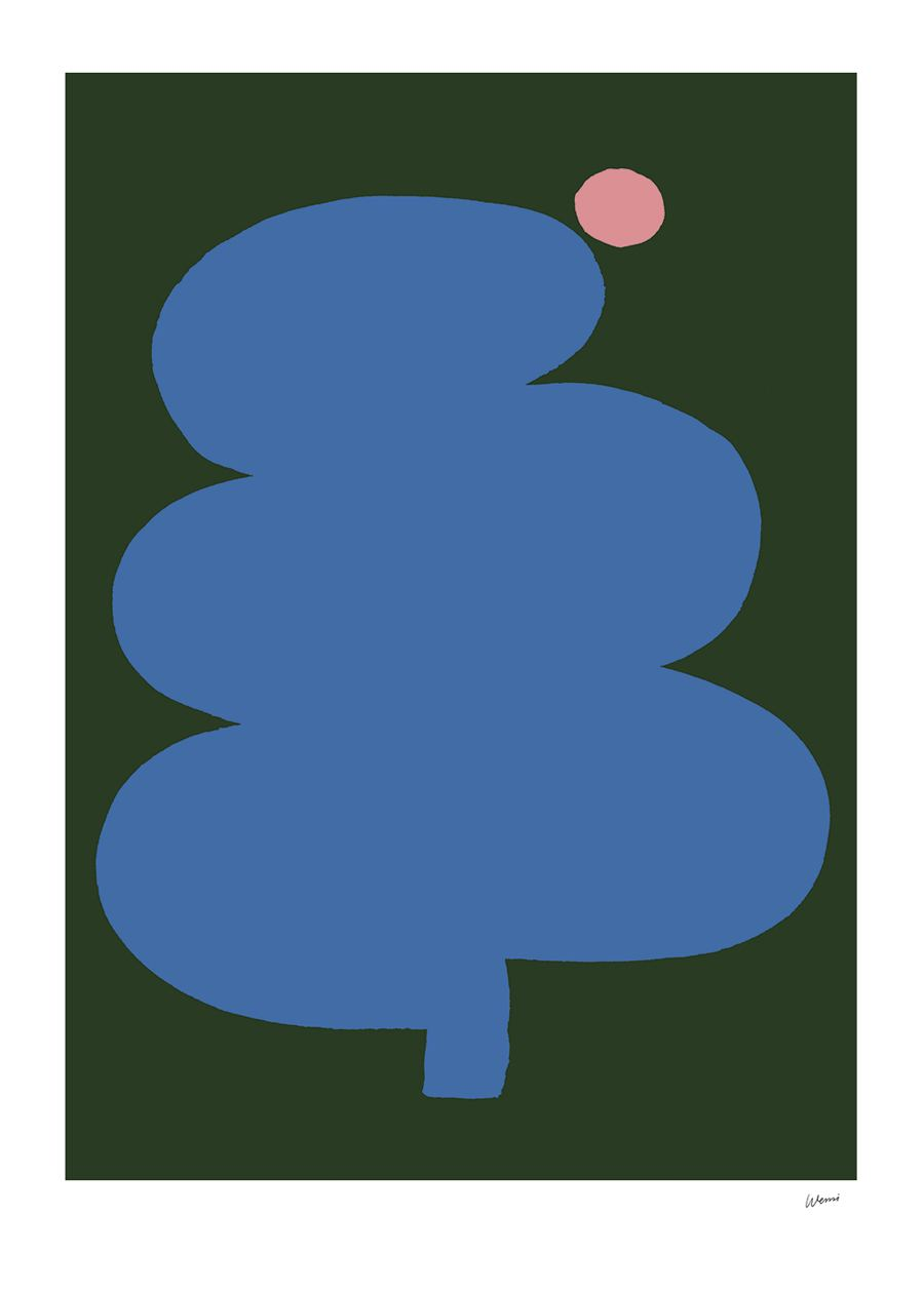 Fat Tree Pink Moon Poster (50x70cm)