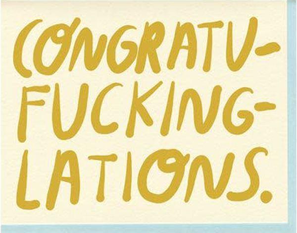 Congratufuckinglations Klappkarte