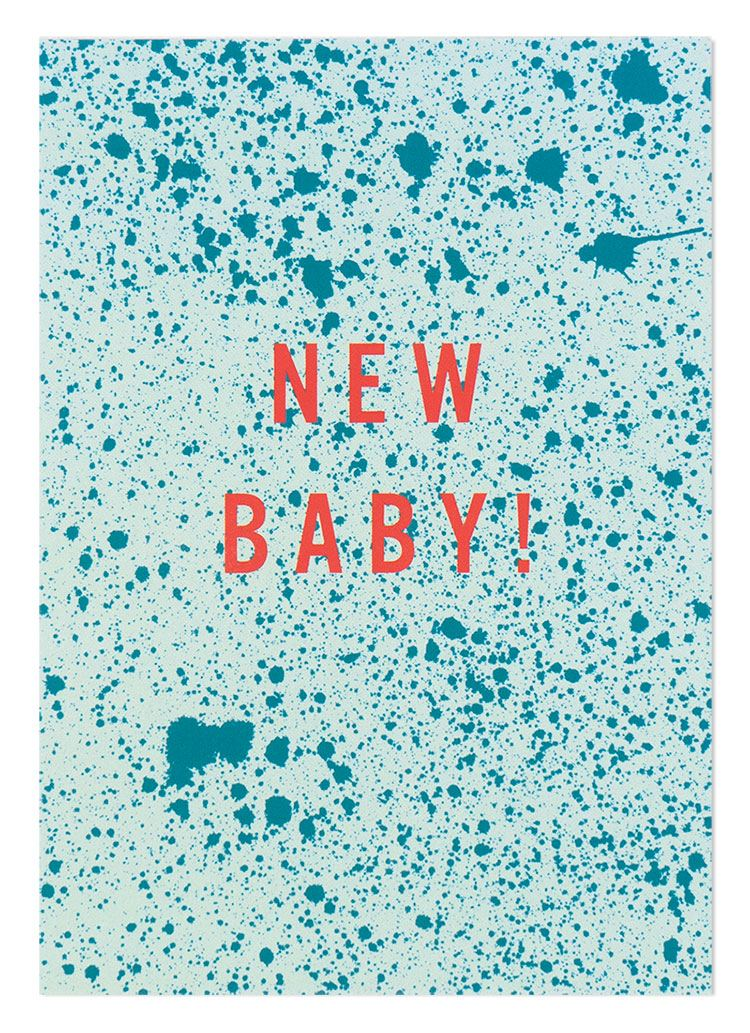 New Baby Sprenkel Türkis Mint Postkarte