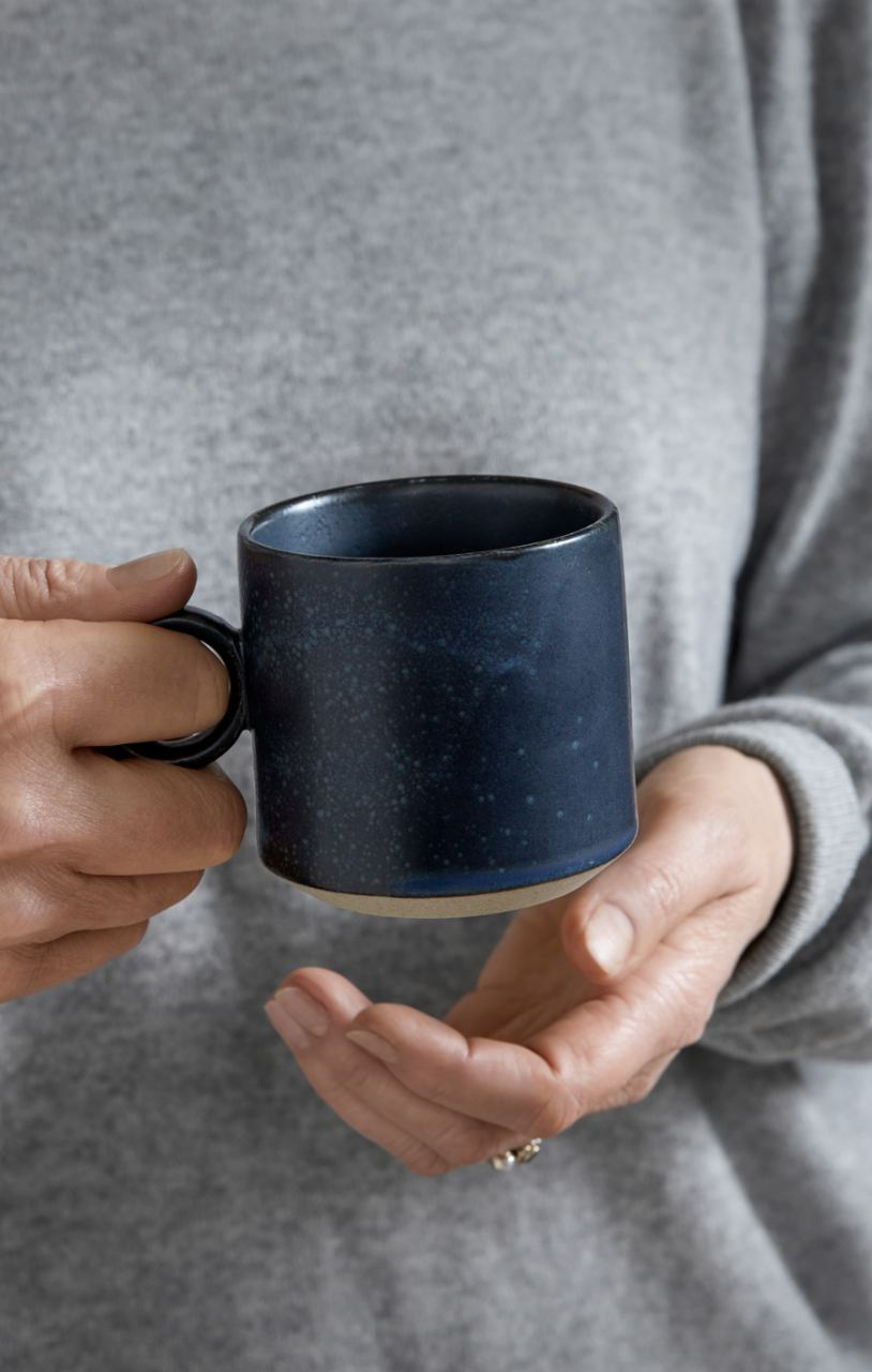 GRAINY Tasse mit Henkel Keramik Dark Blue