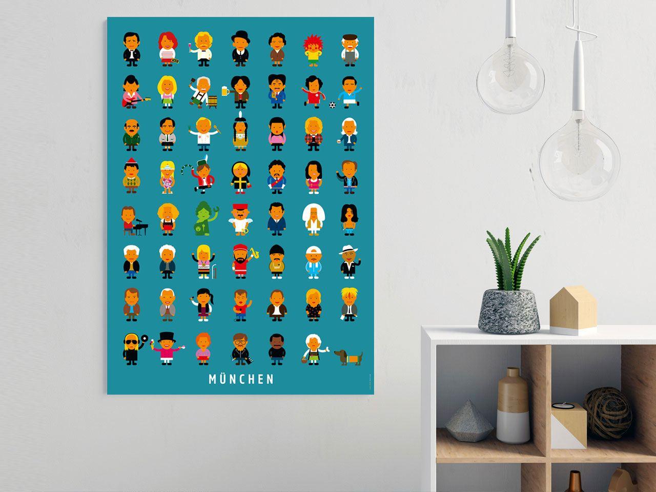 Münchener Leute Poster