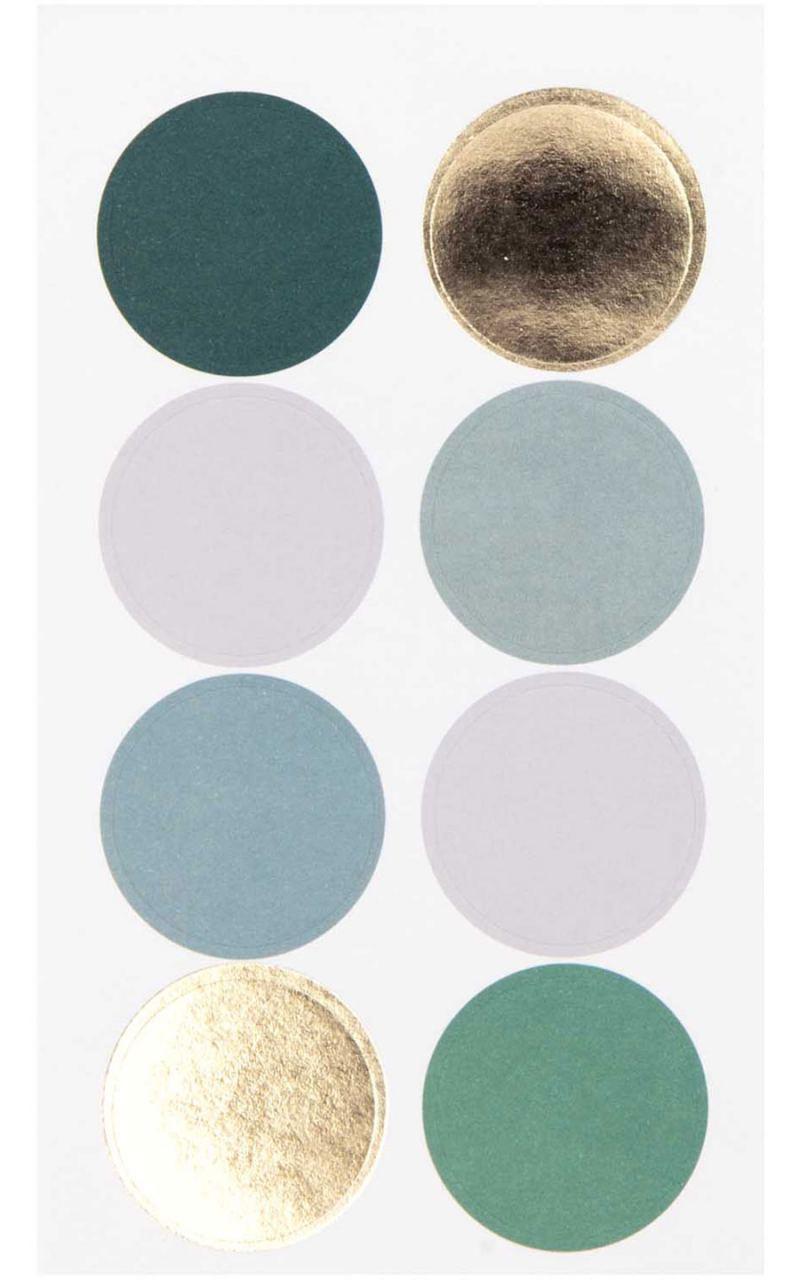 Sticker Punkte & Streifen Dunkelgrün