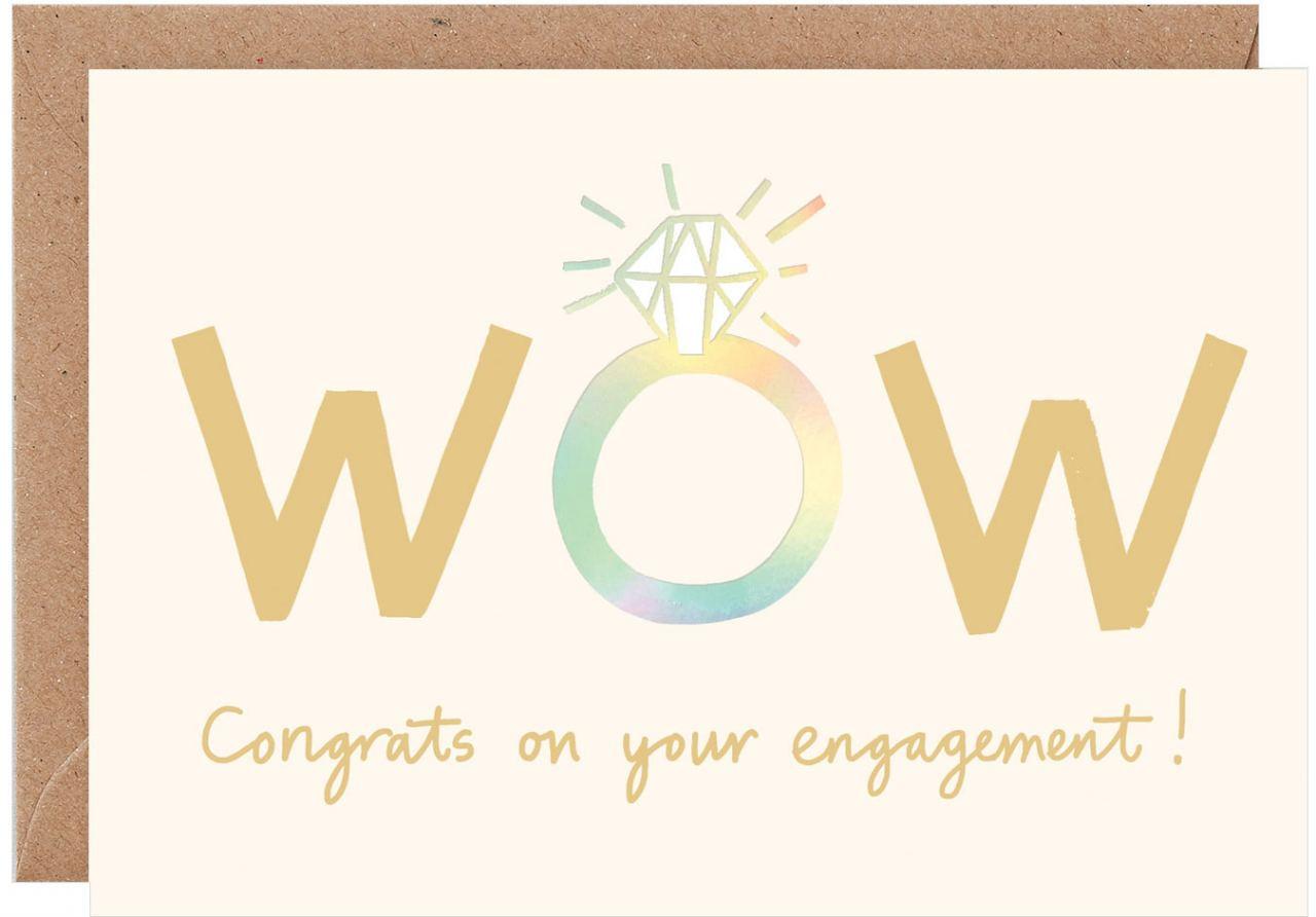 WOW Congrats Engagement Karte