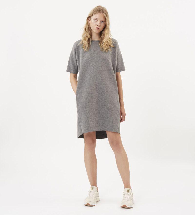 Regitza Kleid Dark Grey Melange