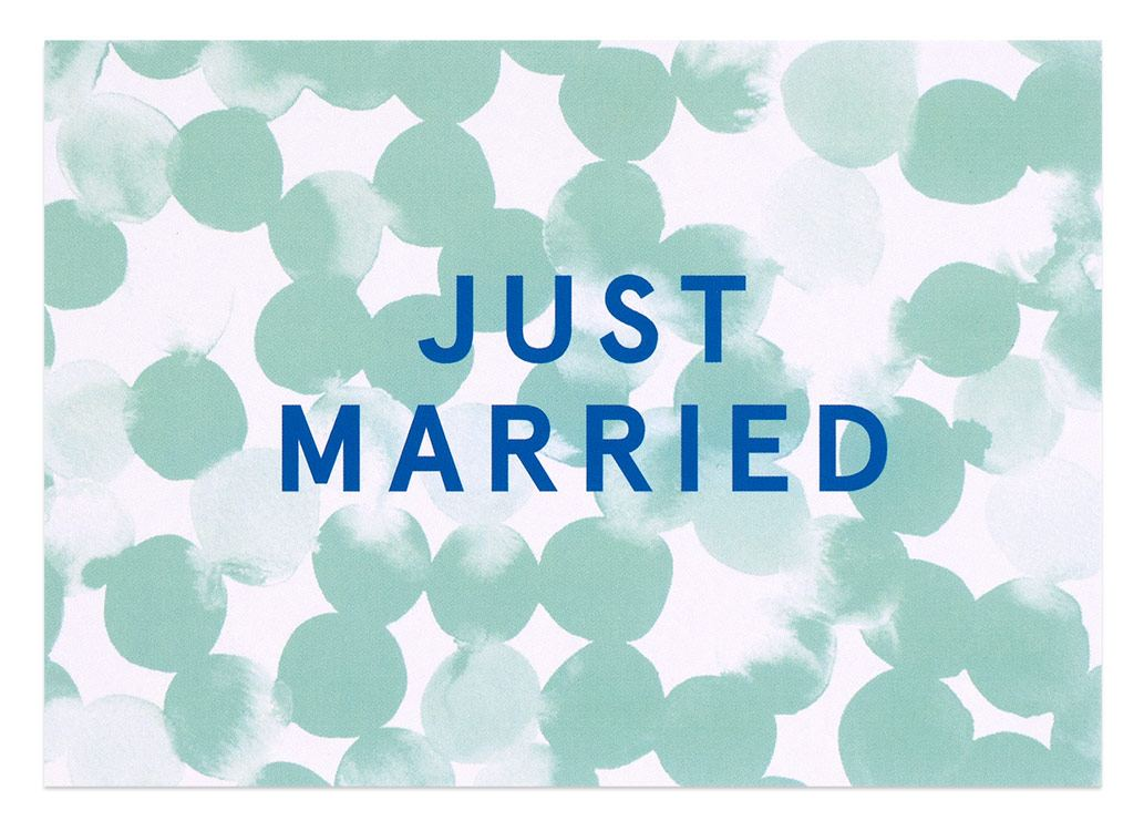Just Married Postkarte