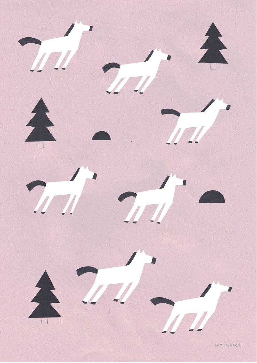 Wild Horses Poster (50x70cm)