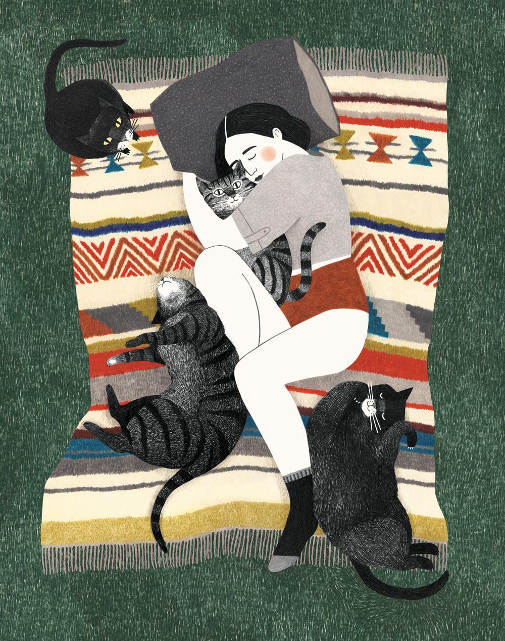 Kattenvrouw Print