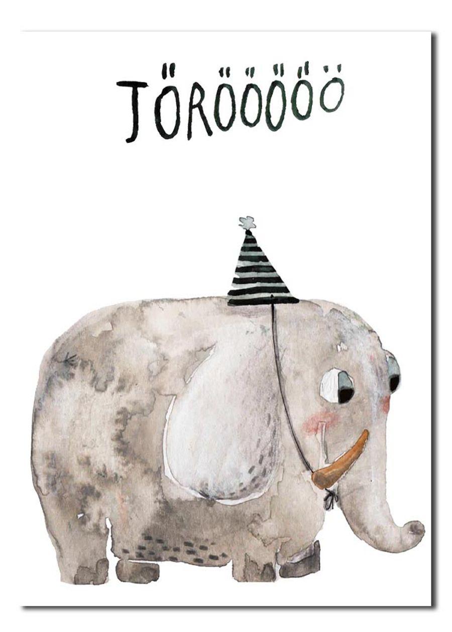 Elefant - Törööö Postkarte