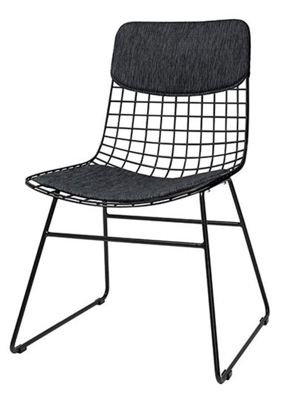 Kissenset für Stuhl aus Metalldraht