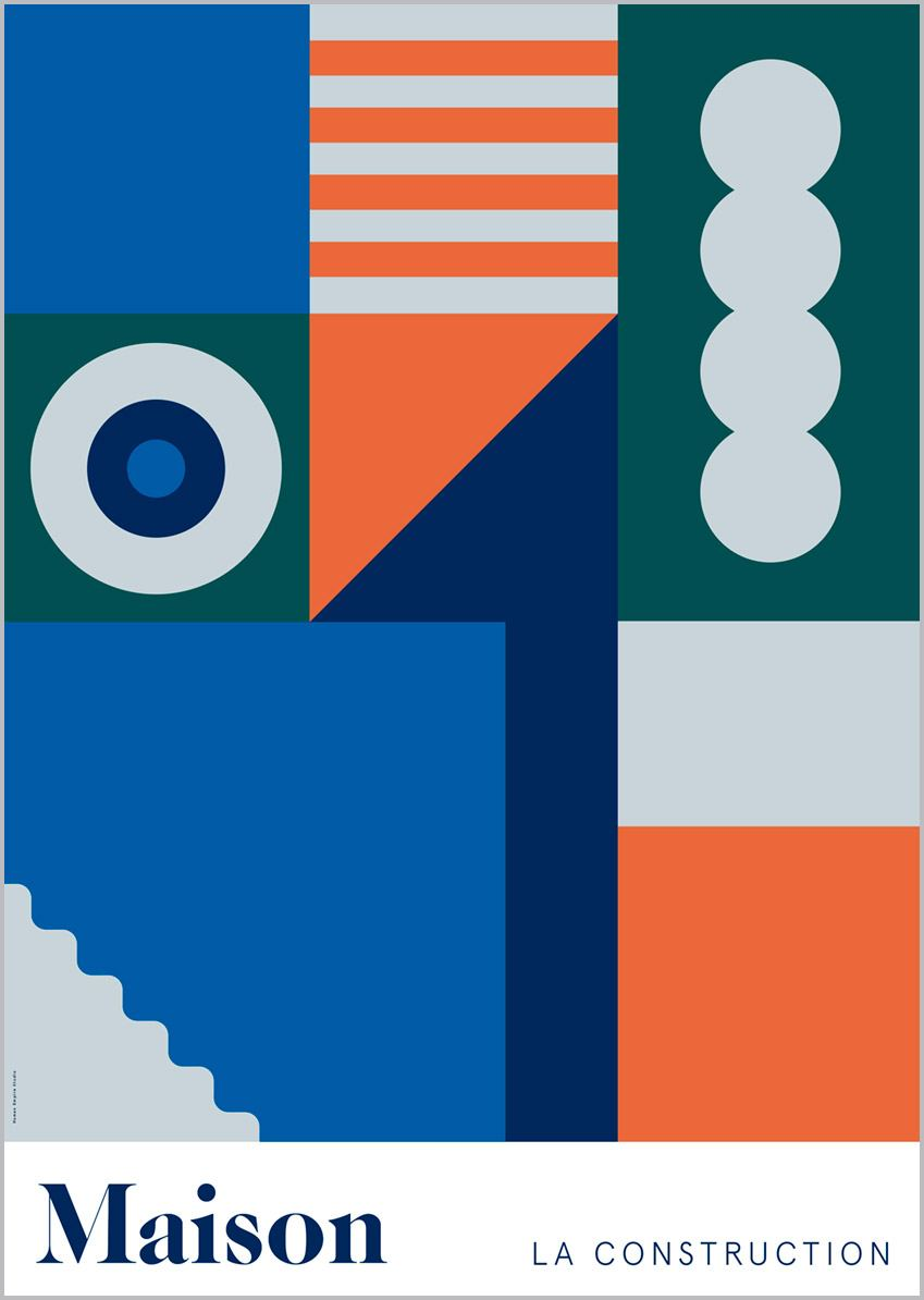 Maison Orange Poster