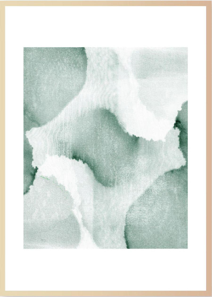 Print Watercolor V Grün (Din A3)