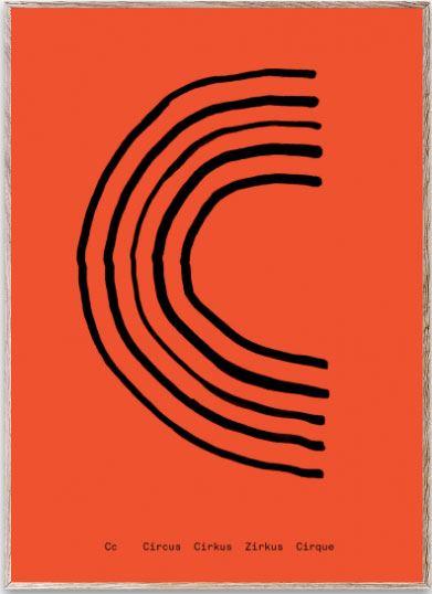 Mado Alphabet C Poster (30 x 40cm)