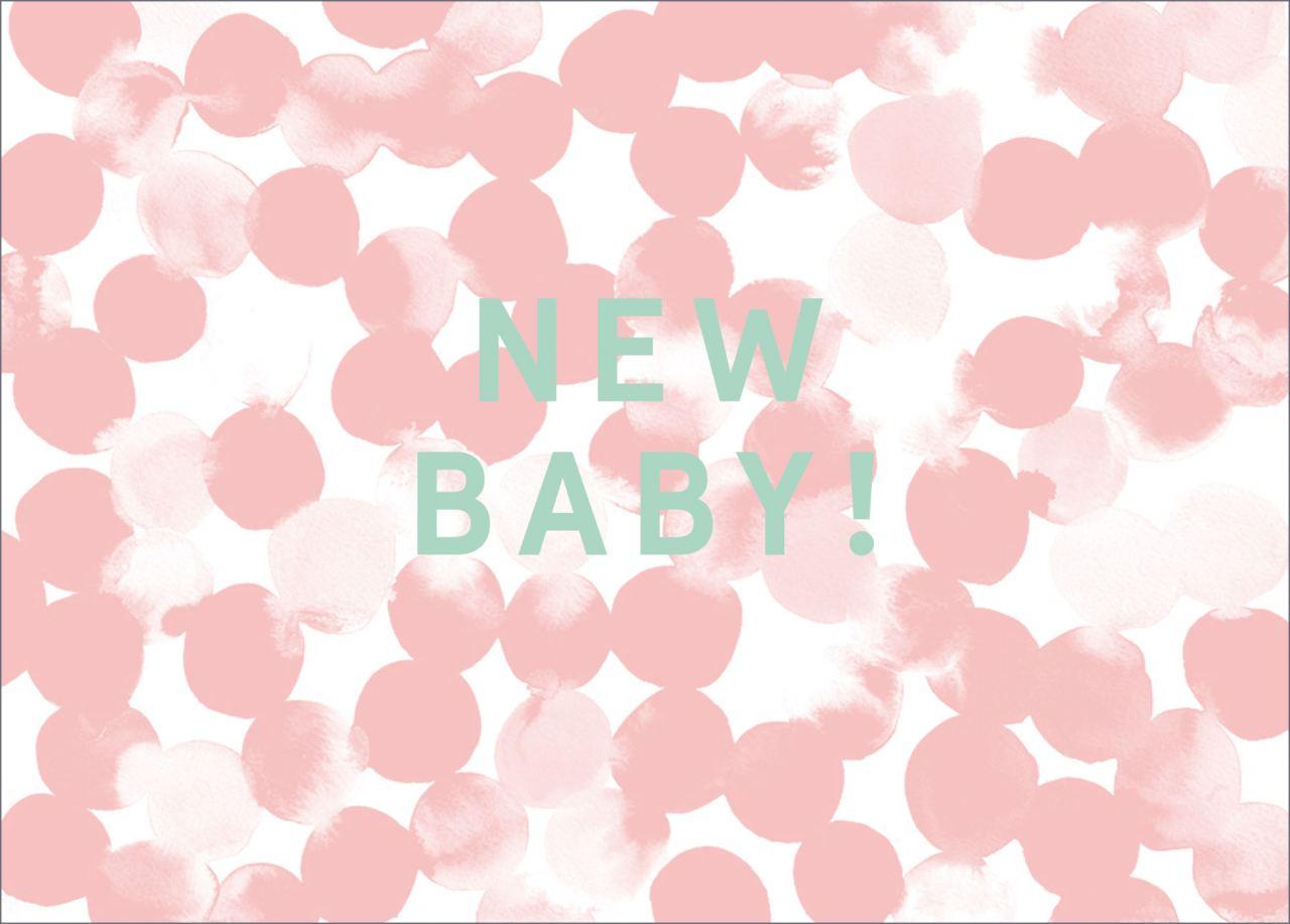 New Baby Postkarte