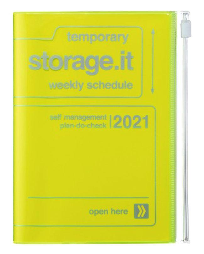 2021 Taschenkalender A6 Storage.it Neon Yellow