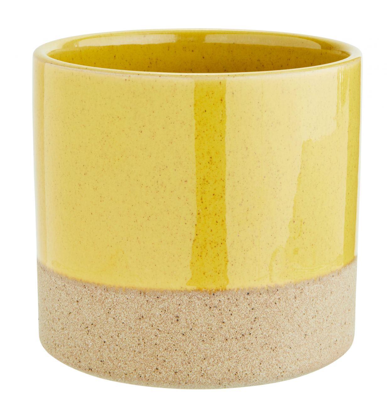 Two Tone Blumentopf Yellow Natural